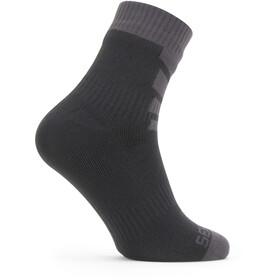 Sealskinz Waterproof Warm Weather Ankle Length Socks black/grey